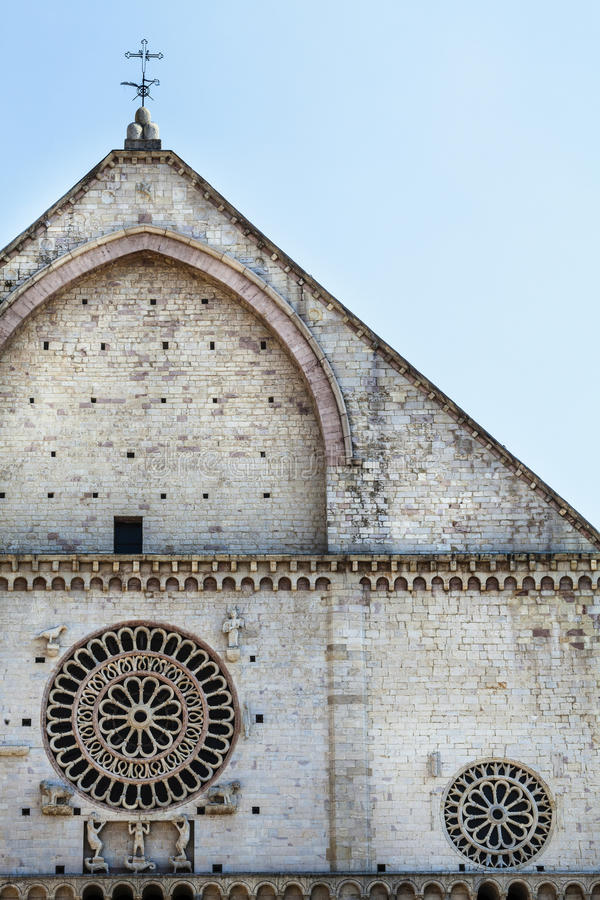Assisi Cathedral San Rufino. Italy church. Assisi Cathedral. Dedicated to San Rufino (Rufinus of Assisi) is a major church in Assisi, Italy, that has been royalty free stock images