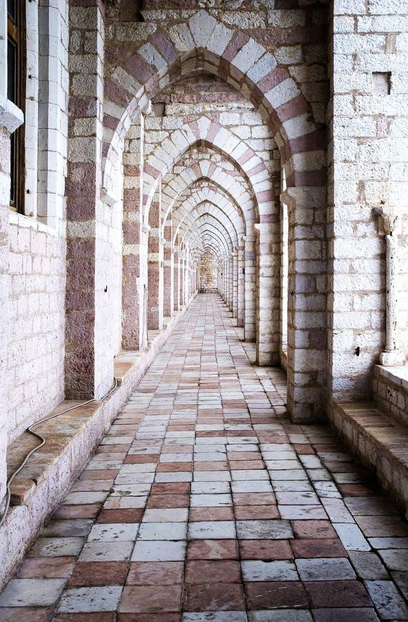 Assisi: das Franziskanerkloster lizenzfreie stockbilder
