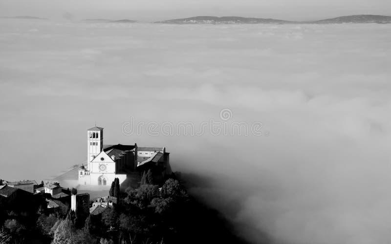 Assisi domkyrka - San Francis arkivfoto