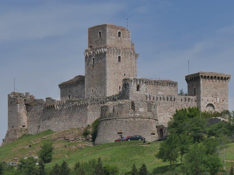 Assisi - fortaleza foto de archivo libre de regalías