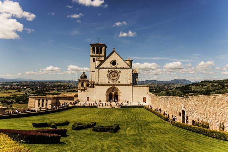 Assisi Italien - basilika av San Francesco fotografering för bildbyråer