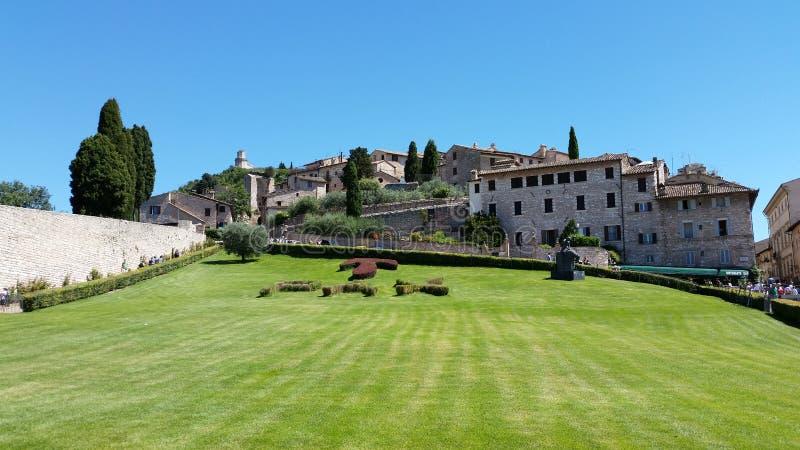 Assisi & x28; italy& x29; fred royaltyfria bilder