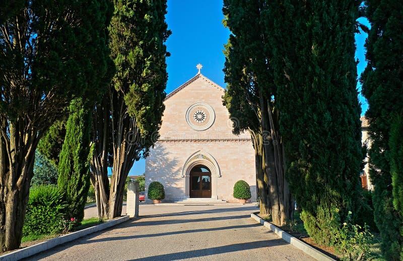 assisi klasztoru delle madonna różany Umbria zdjęcie royalty free