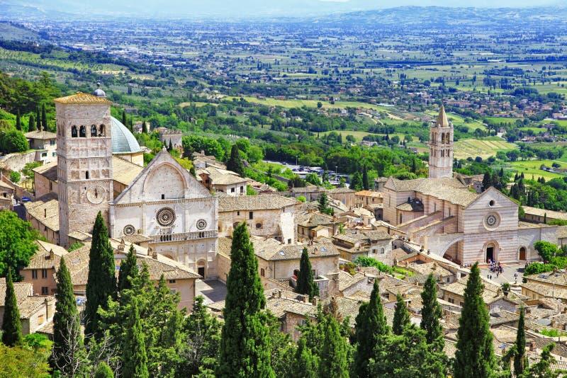 Assisi medievale, Umbria, Italia immagini stock libere da diritti