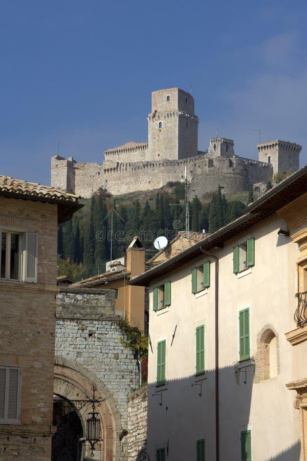 Assisi: oud kasteel stock foto's