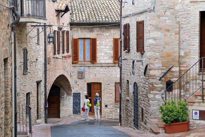 Assisi, pequeña ciudad de Umbría fotos de archivo libres de regalías