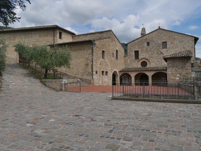 Assisi - St Damiano святилища стоковое фото rf