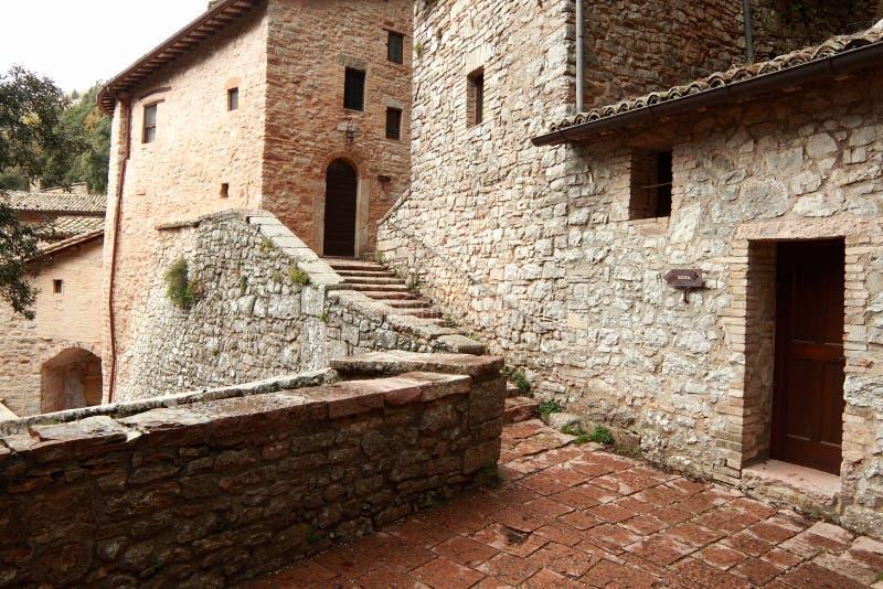Assisi, Włochy, erem St Francis Assisi, pokój i dobry, zdjęcia royalty free