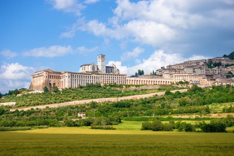 Assisi w Włochy Umbria zdjęcie royalty free