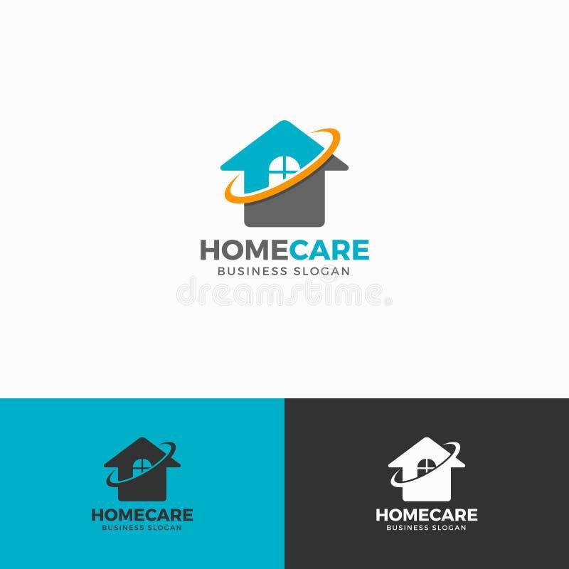 Assistência ao domicílio Logo Template ilustração do vetor