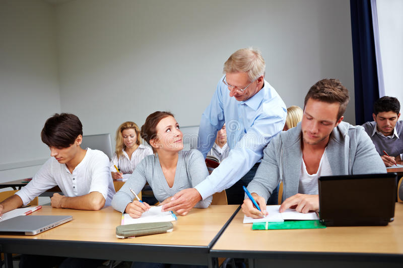 Download Assistance at university stock image. Image of school - 21340097