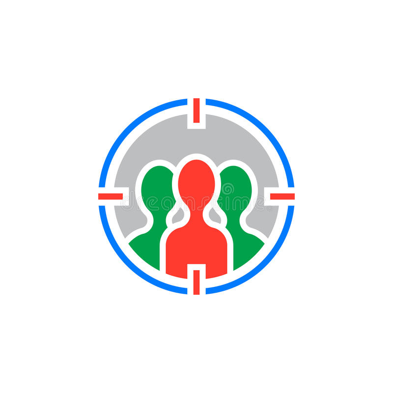 Assistance visant le vecteur d'icône, signe plat rempli, coloré solide illustration stock