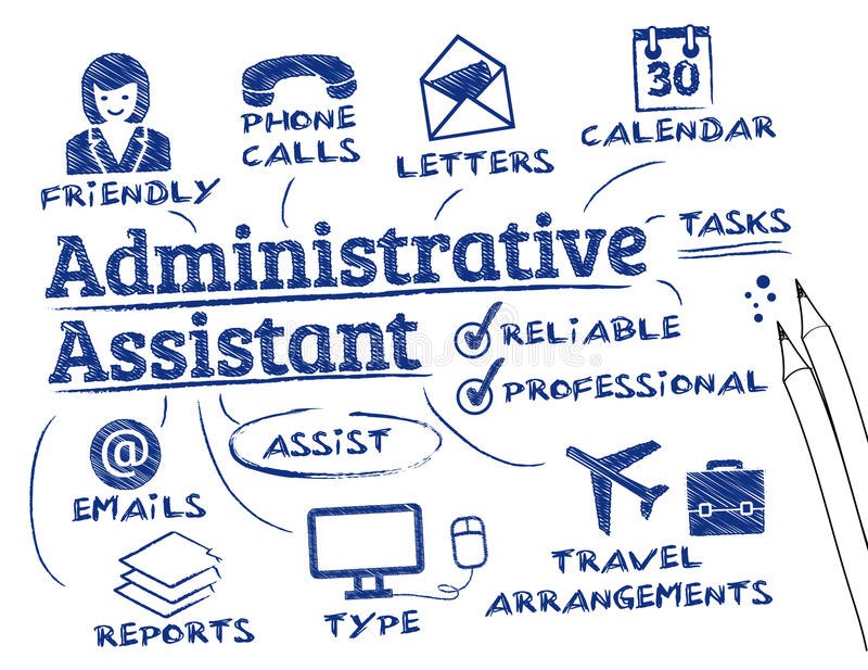 Assistant administratif illustration de vecteur