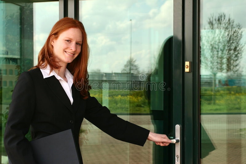 Download Assistant Entering Office Stock Images - Image: 4878514
