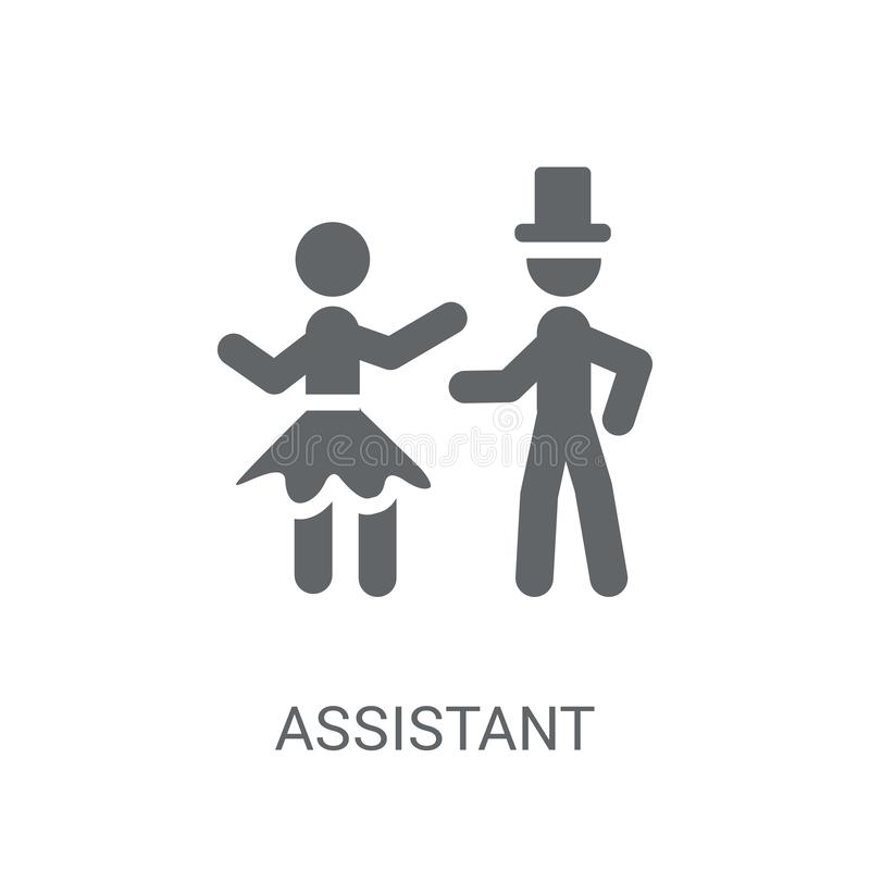 Assistant icon. Trendy Assistant logo concept on white background from Circus collection. Suitable for use on web apps, mobile apps and print media vector illustration