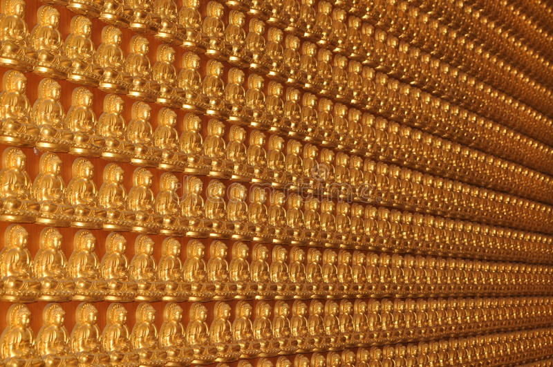Assistant sitting Buddha in the temple . royalty free stock photos