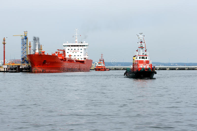 Download Assistant tanker stock photo. Image of money, port, assist - 25648602