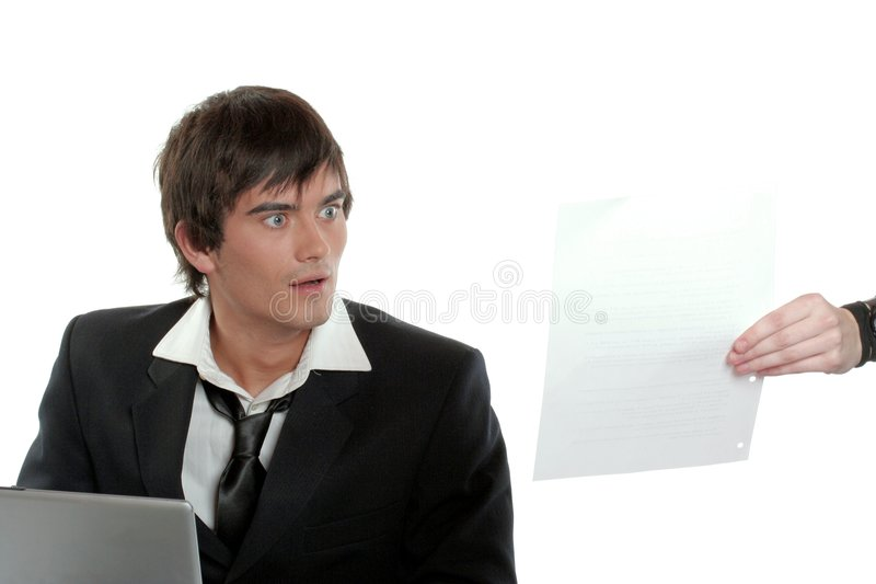 Assistant in Trouble royalty free stock photo