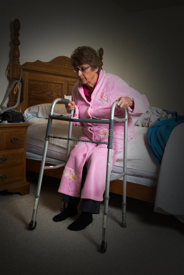 Assisted Living Nursing Home Elderly Woman royalty free stock photos