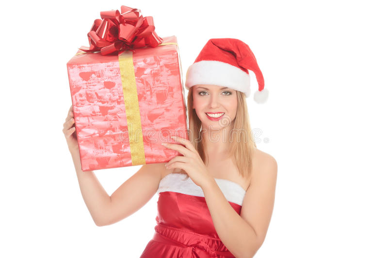 Assistente allegro della Santa fotografia stock