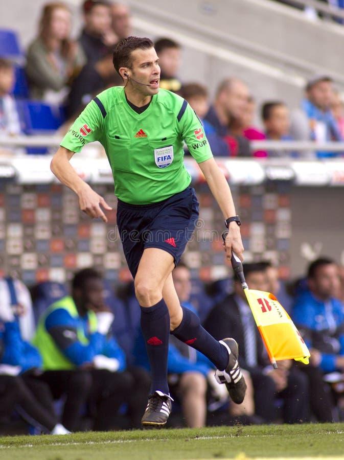 Assistente arbitro spagnolo Raul Cabanero fotografia stock