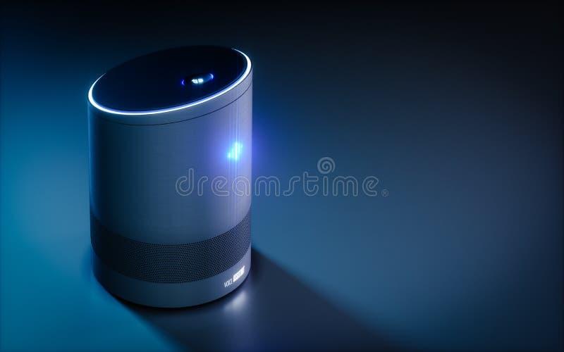 Assistente a comando vocale intelligente domestico concetto della rappresentazione 3d illustrazione vettoriale