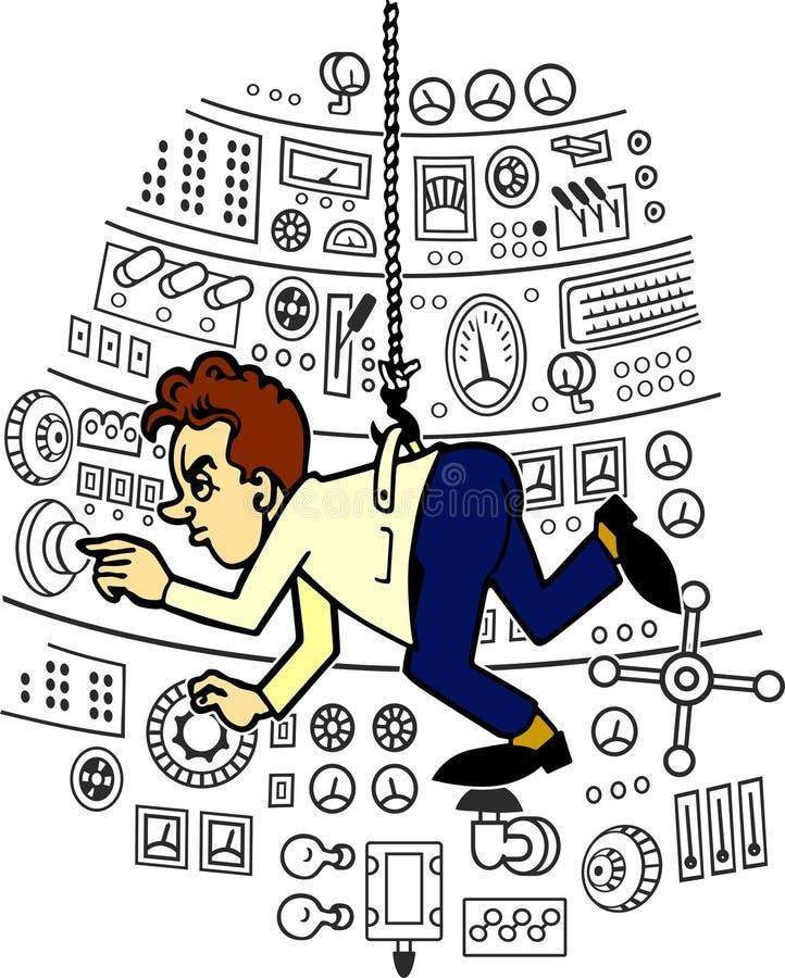 Assistente de laboratório ilustração stock