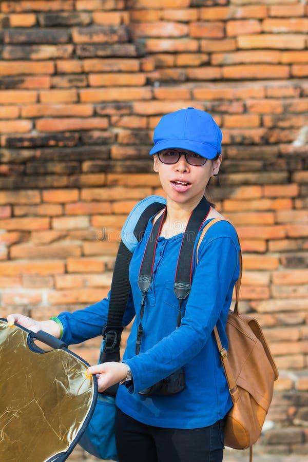 Assistente del fotografo fotografia stock libera da diritti