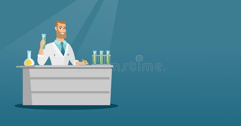 Assistente di laboratorio all'illustrazione di vettore del lavoro illustrazione di stock