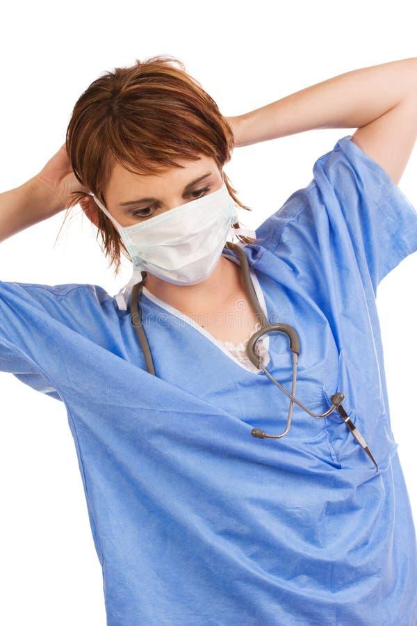 Assistente médico fêmea caucasiano novo foto de stock royalty free