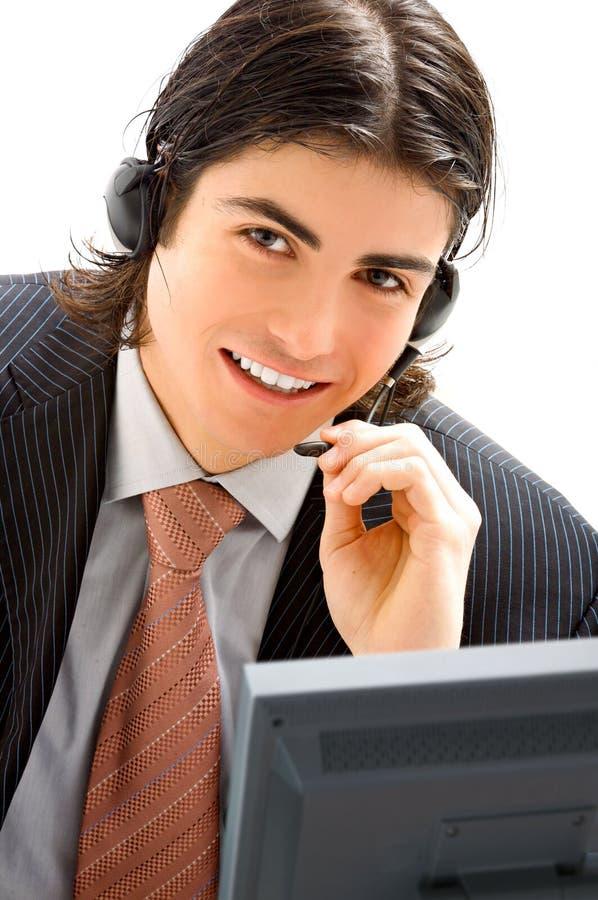 Assistente masculino novo foto de stock royalty free