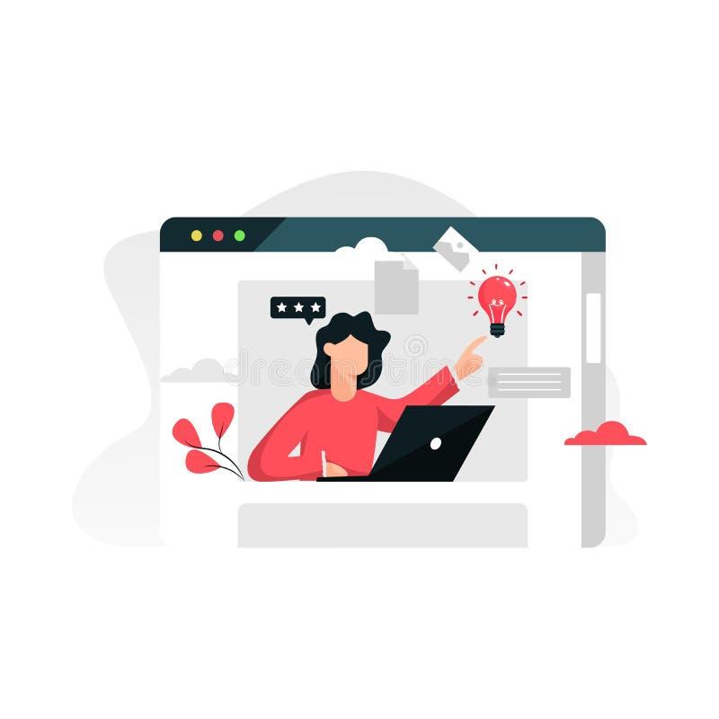 Assistente online - cliente e operatore, supporto tecnico online 24-7 illustrazione di stock