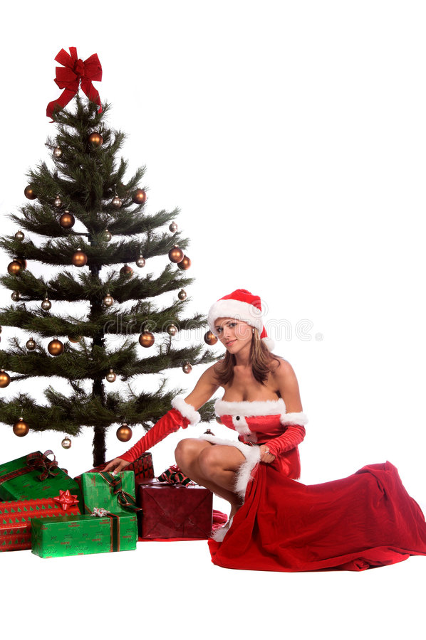Assistente sexy della Santa immagini stock libere da diritti