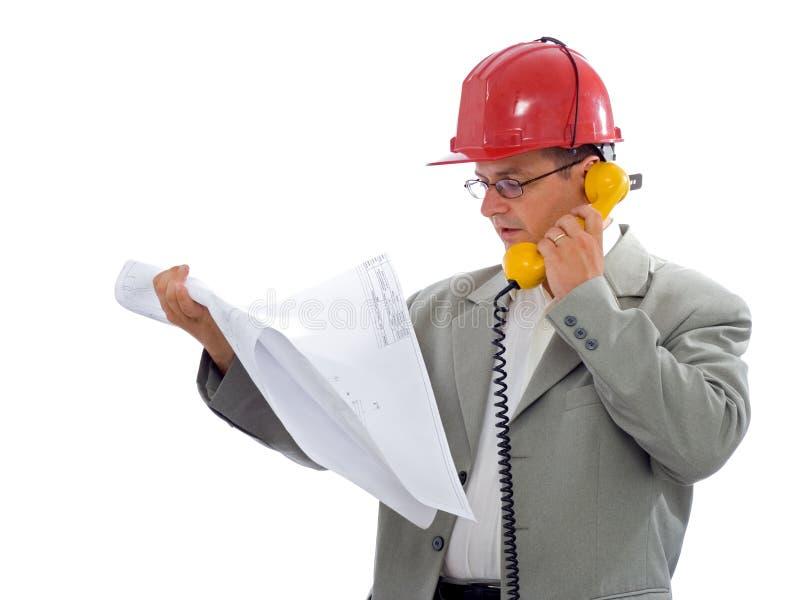 Assistente tecnico di costruzione fotografie stock