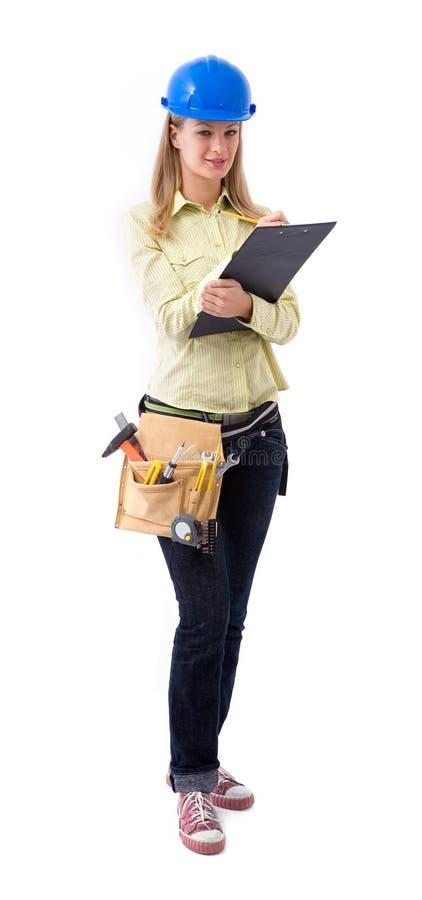 Assistente tecnico di costruzione immagini stock