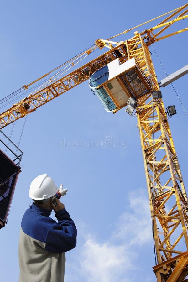 Assistente tecnico ed industria di costruzione immagini stock