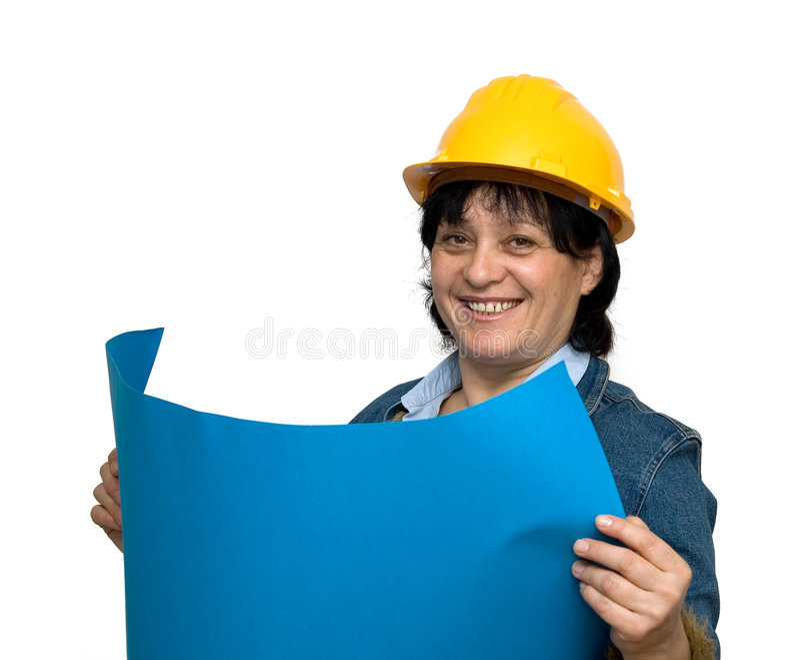 Assistente tecnico femminile immagini stock libere da diritti