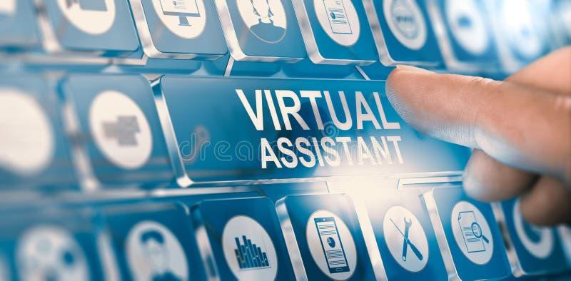 Assistente virtuale; Servizi personali di PA illustrazione di stock