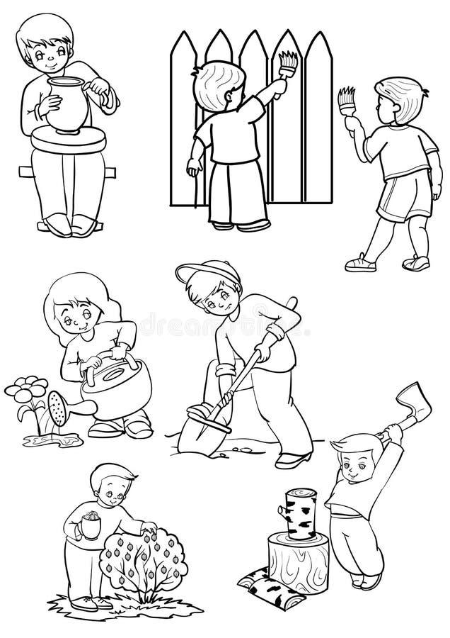 Assistentes ilustração do vetor