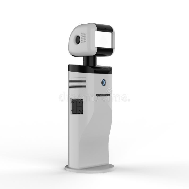 Assistentrobot med den tomma skärmen royaltyfri illustrationer