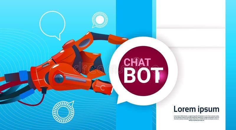 Assistenza virtuale del robot libero del Bot di chiacchierata delle applicazioni del cellulare o del sito Web, concetto di intell illustrazione di stock