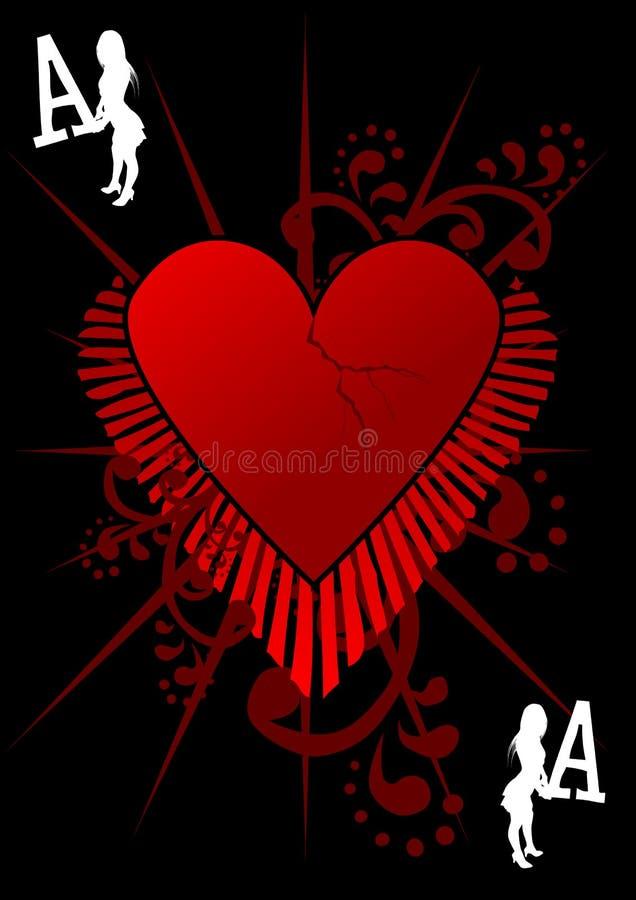 Asso di amore royalty illustrazione gratis