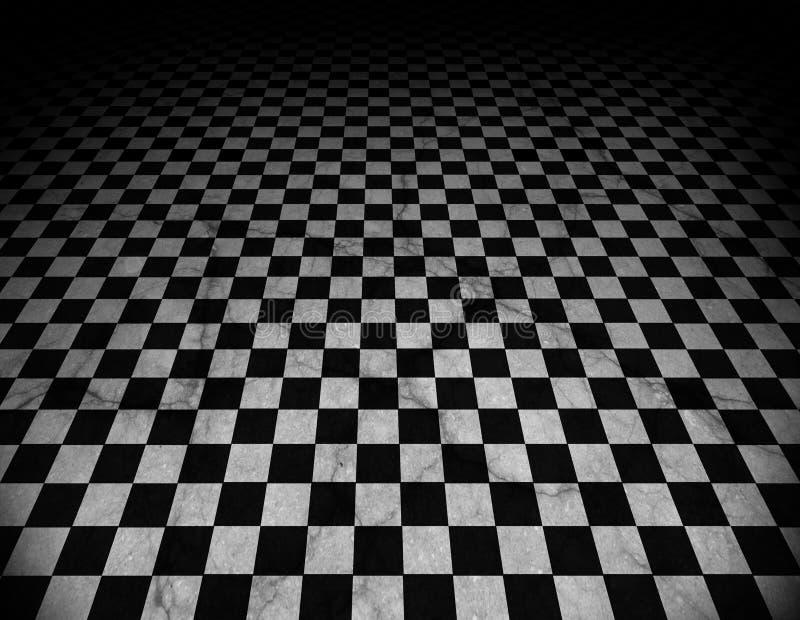 Assoalho Checkered, de mármore ilustração stock