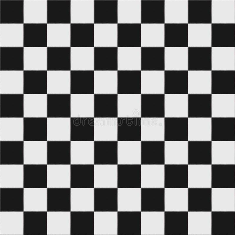 Assoalho checkered preto e branco fotos de stock royalty free