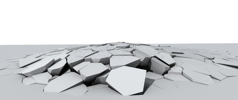 Assoalho concreto de desintegração ilustração do vetor