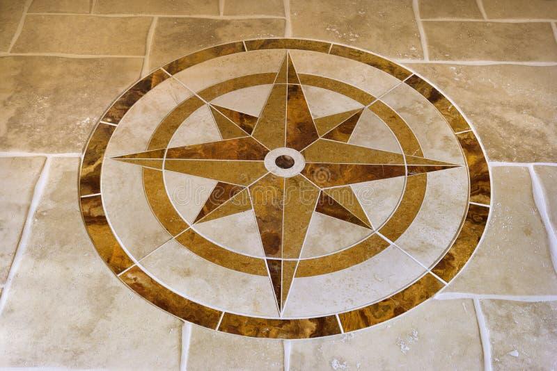 Assoalho de mármore com forma da estrela. fotos de stock