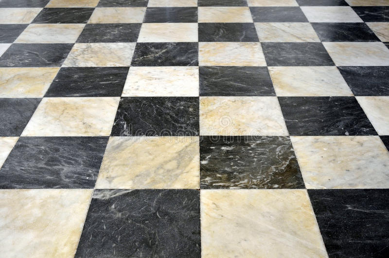 Assoalho de mármore quadriculado foto de stock
