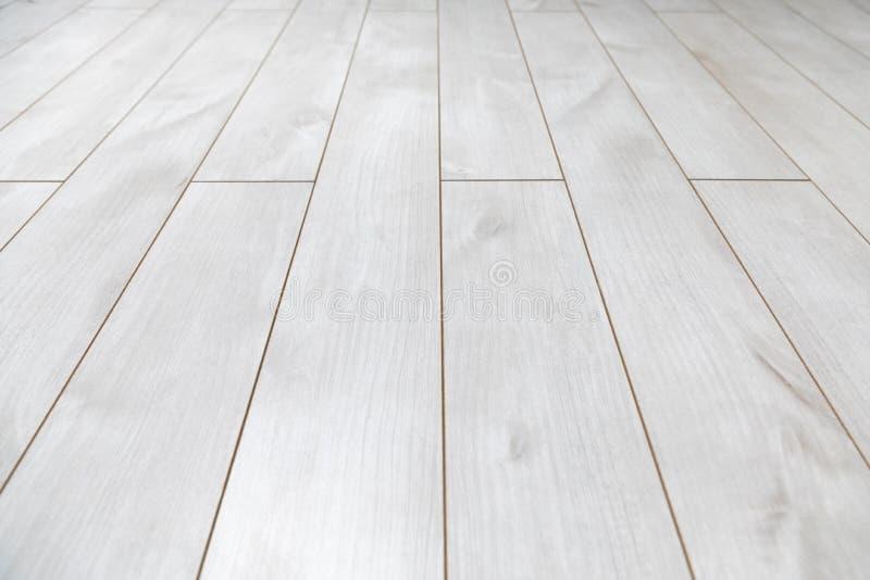 Assoalho de madeira branco como a textura do fundo foto de stock