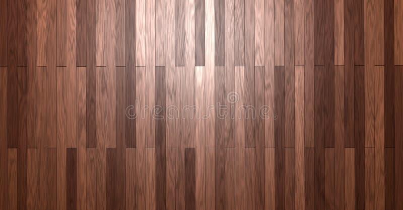 Assoalho de madeira brilhante da estratificação do parquet do papel de parede do fundo ilustração royalty free