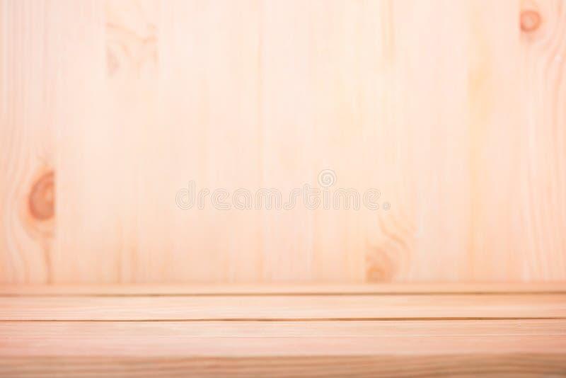 Assoalho de madeira com o bonito borrado para o fundo foto de stock